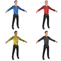 3D pack male figure skater