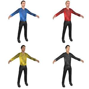 3D pack male figure skater