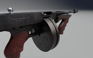 thompson submachine gun 3D