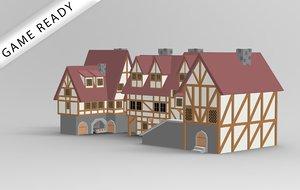 3D model rady fantasy medieval house