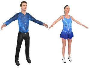 male female figure skater model