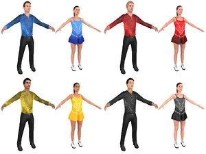 pack figure skaters model
