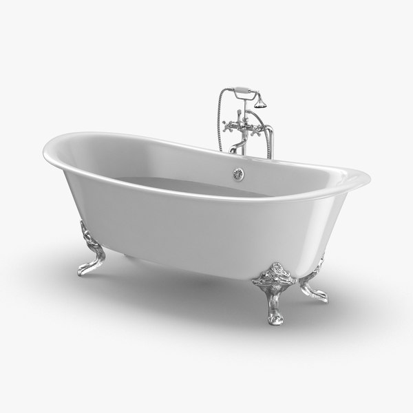 3D classical-bathtub---faucet-off-half-full
