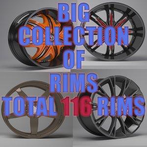 3D big pack rims model