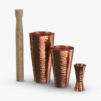 3D cocktail-shaker-hammered-copper