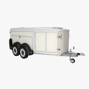 dog transport trailer 3D