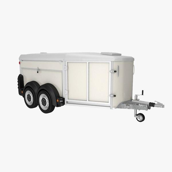 dog transport trailer 3D