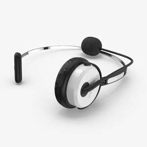 3D model headset-mic-02---resting