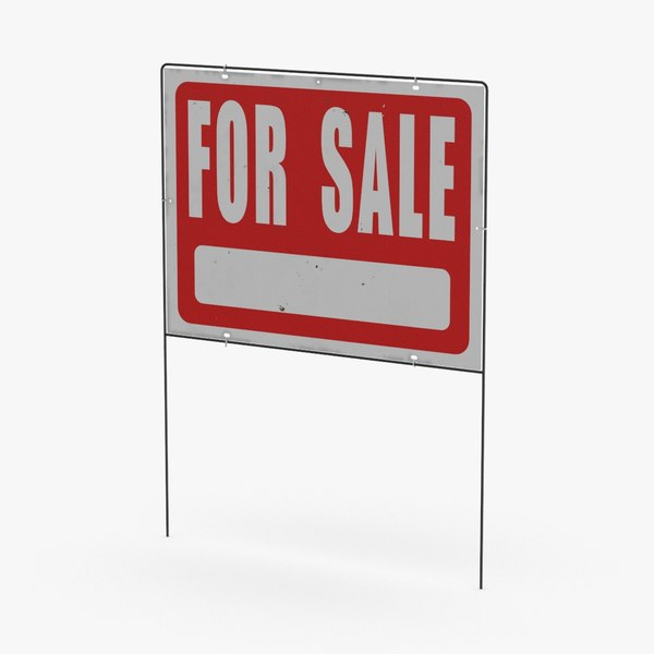 home-for-sale-sign-02---without-sold-sticker 3D
