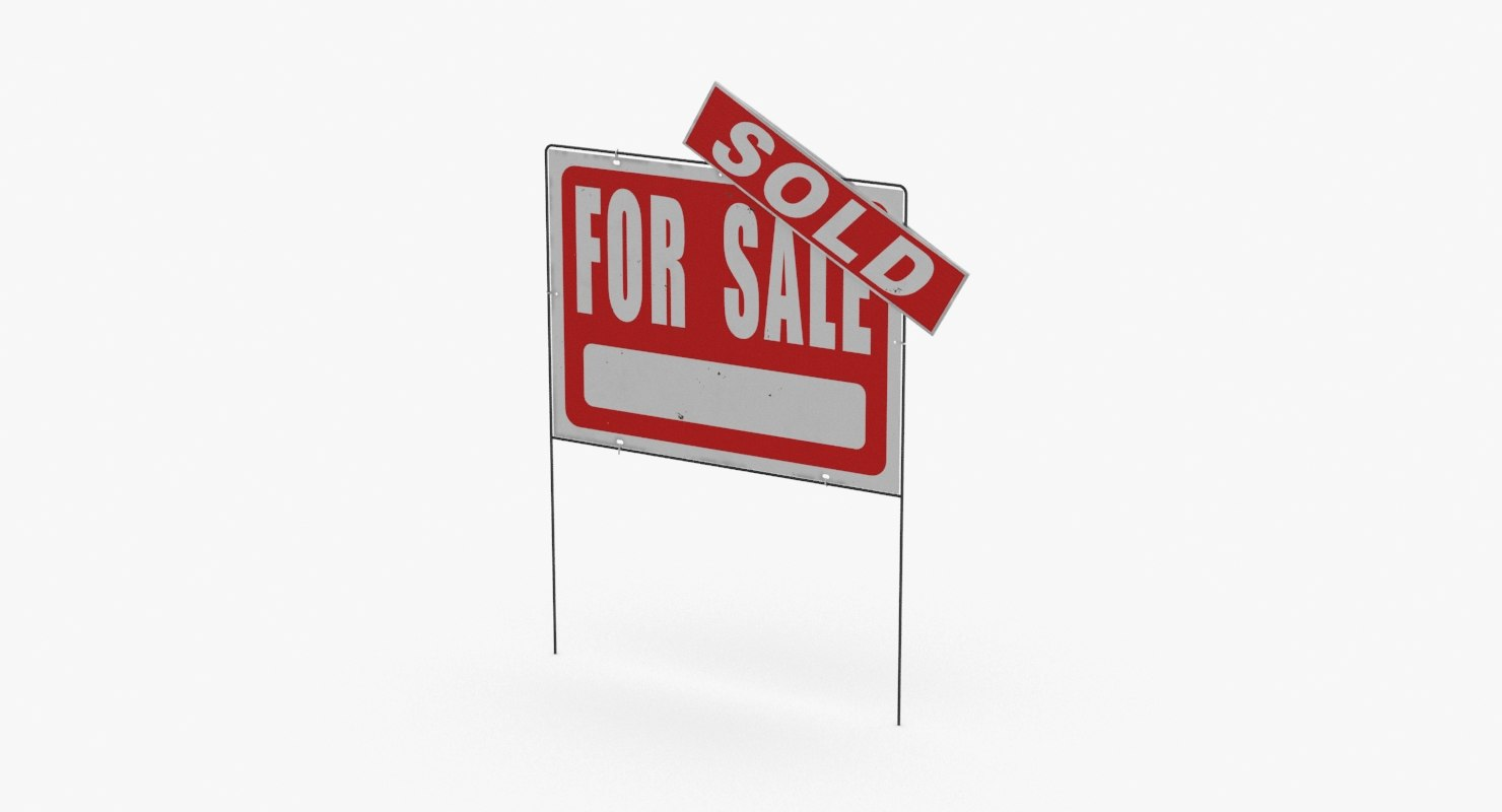 3D home-for-sale-sign-02---with-sold-sticker model