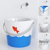 3D bucket washbasin 8803