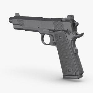 handgun pistol weapon 3D model
