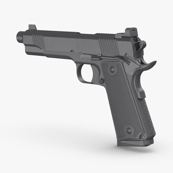 handgun pistol weapon 3D model