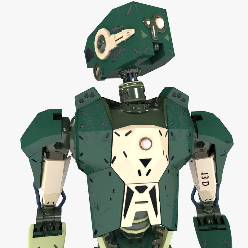 humanoid robot v2 3D model