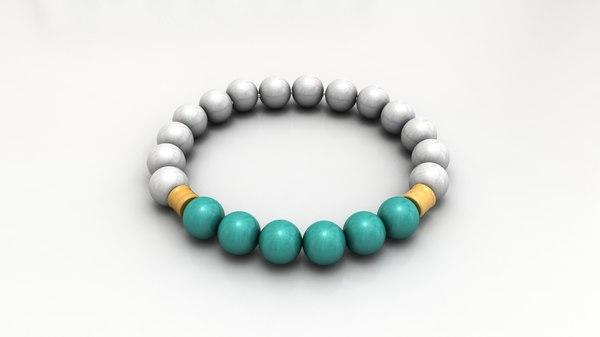 3D pearl bracelet