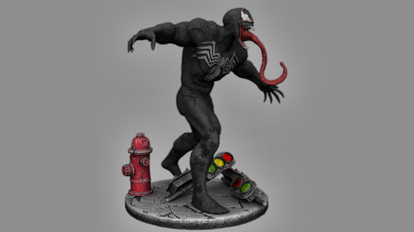 ultimate venom print figure 3D model