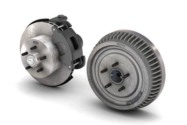 car truck brake set model