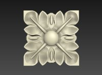 square rosette 3D model