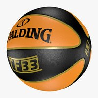 Basketball Spalding Ball  TF 33 Orange Black 4L