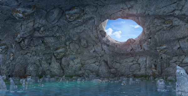 cave seascape sea 3D model