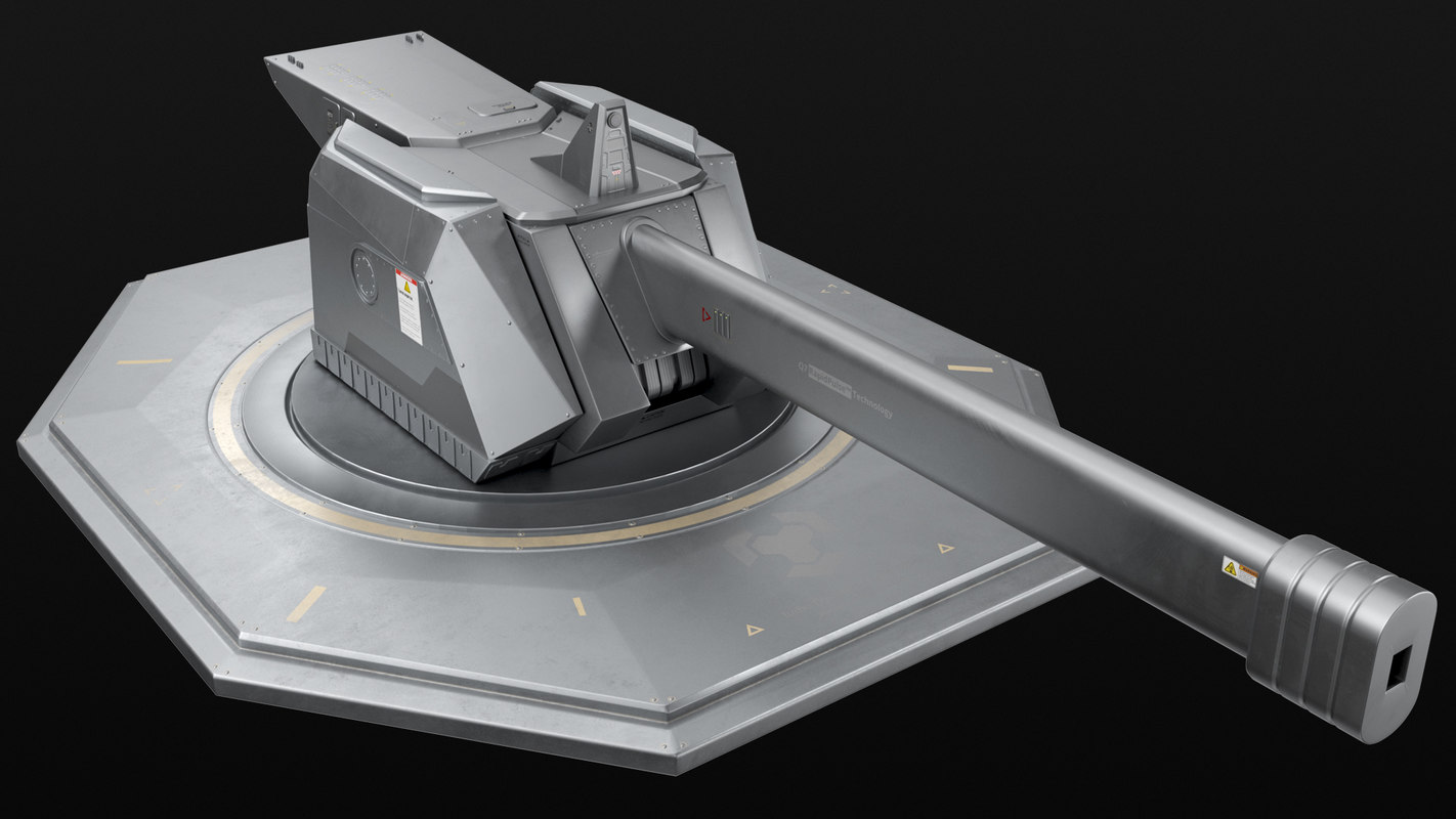 railgun turret - model