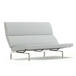 grey fabric sofa 3D