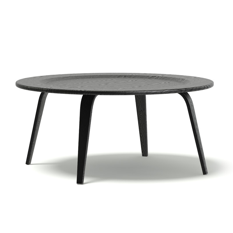 3D black coffee table