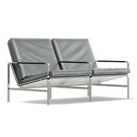 3D metal sofa grey
