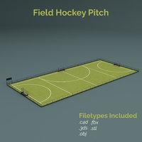 field hockey training pitch 3D