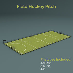 field hockey training pitch 3D