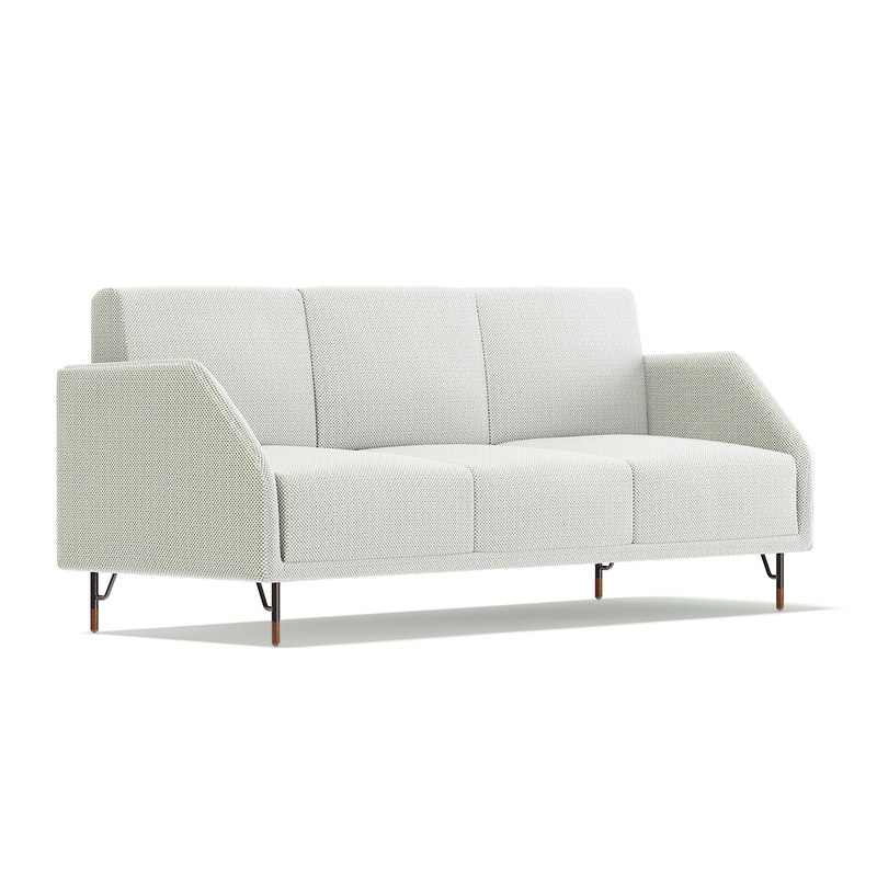 white fabric sofa 3D model
