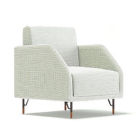 3D white fabric armchair model