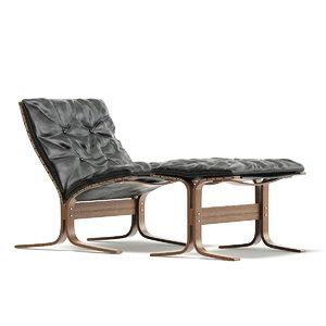 lounge chair footrest 3D model