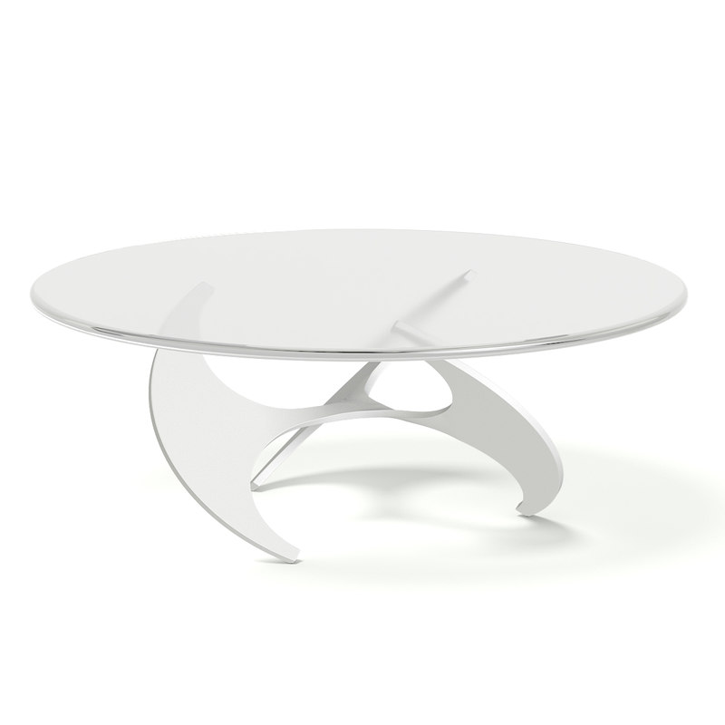 modern glass metal coffee table 3D model