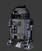 3D model robot r2 d2