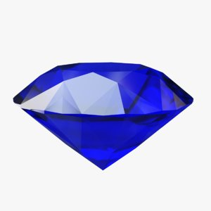 3D ceylon blue sapphire model