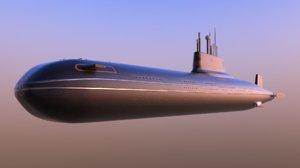 typhoon-class submarine 3D model