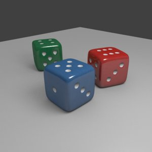 6 sided dice 3D model