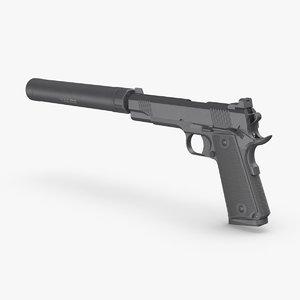3D pistol silencer
