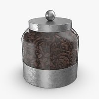 Glass Food Canisters - Coffee beans full