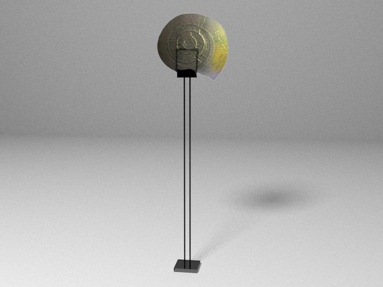 fusion glass sculpture 3D model