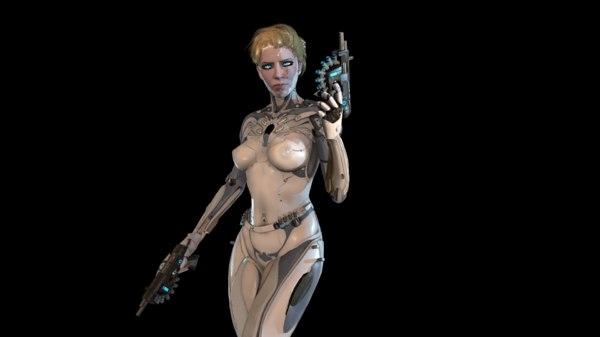 girl ghost 3D model