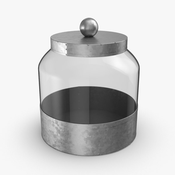 glass food canisters - 3D