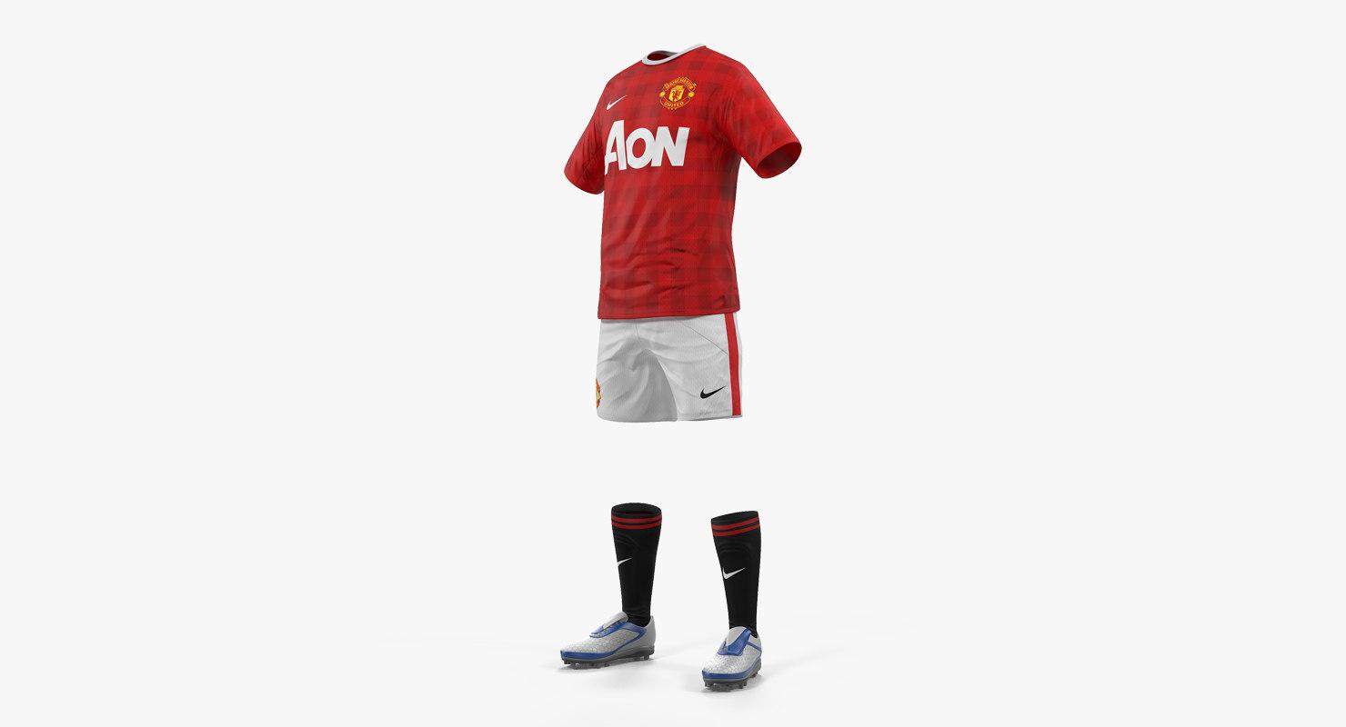 3D soccer uniform united