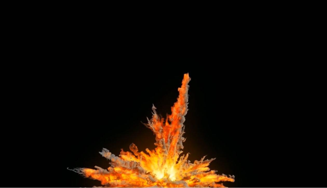 3D model sand explosion houdini