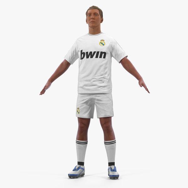soccer football player real model