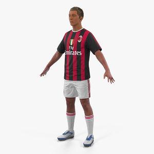 soccer football player milan 3D