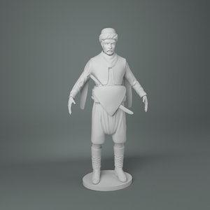 zeybek 35 cm sculpture 3D model