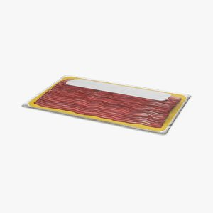 packaged bacon 3D