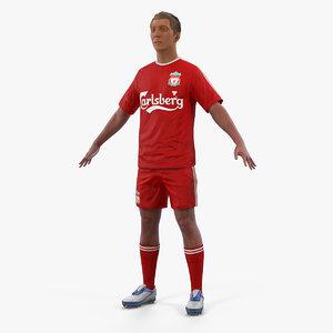 3D model soccer football player liverpool